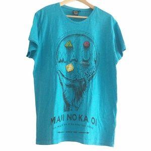 Maui & Sons Blue T-shirt XL 100% cotton